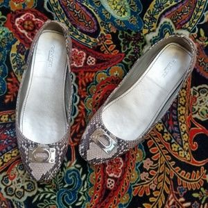 Coach Vernon Snake Print Leather Loafers